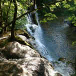 Cascades Des Tufs from the top
